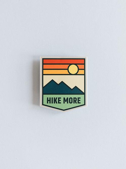 Hike More Sticker
