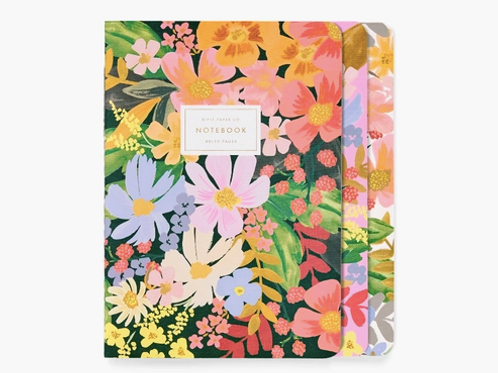 Rifle Paper Co. | Set of 3 Marguerite Stitched Notebooks