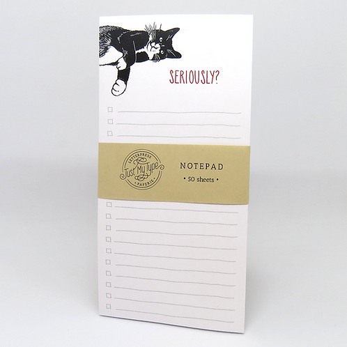 Seriously? Cat Notepad