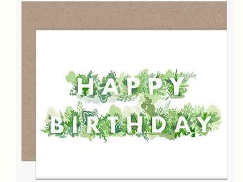 Green Foliage Birthday