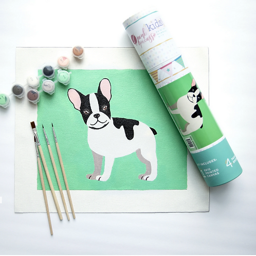Pink Picasso | Kid's Frenchie Dog Art Kit