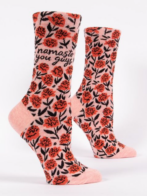 Namaste You Guys, Women's Crew Socks