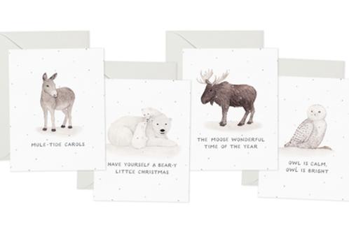 Festive Animals Notecard Set