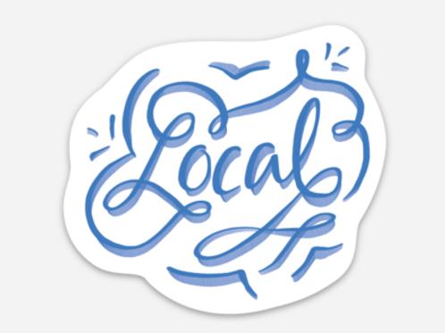 Local Blue Swirl Sticker
