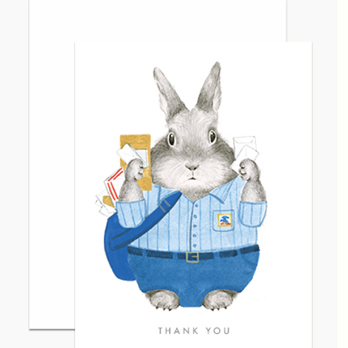 Essential Worker USPS Bunny Thank You
