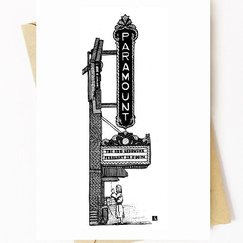 Paramount Theater Greeting Card
