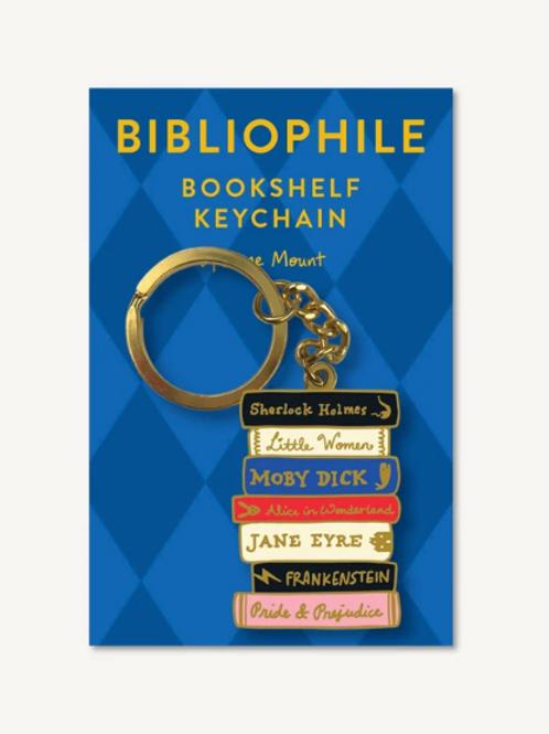 Bibliophile Bookshelf Key Chain
