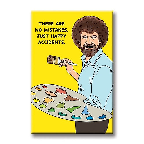 No Mistakes Bob Ross Magnet