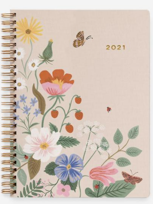 Rifle Paper Co. | 2021 Strawberry Fields Softcover Spiral Planner