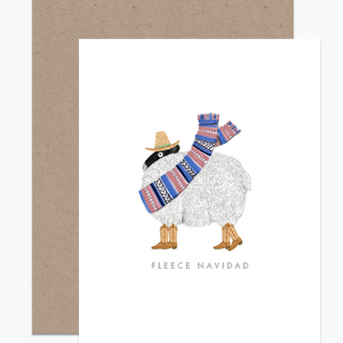 Dear Hancock Fleece Navidad Holiday Cards