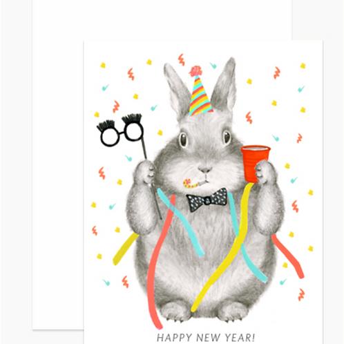 Dear Hancock New Year's Bunny Cards