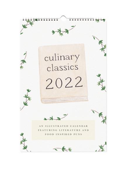 2022 Culinary Classics Wall Calendar
