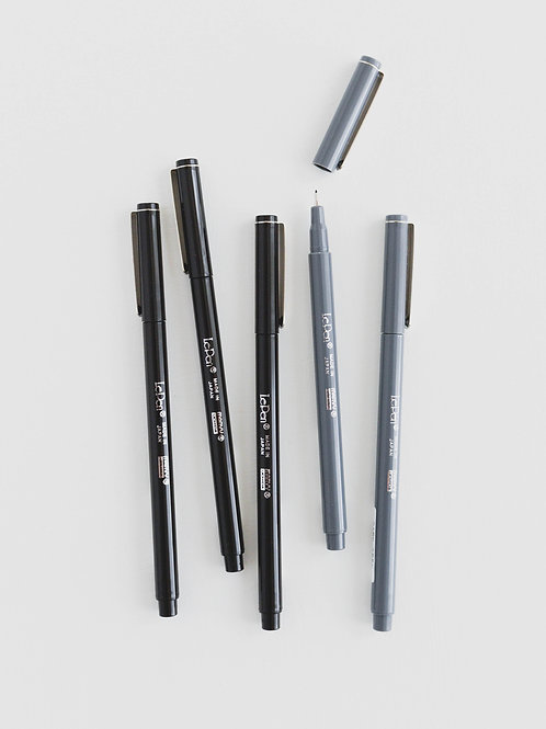 Le Pen | Black & Dark Gray, Set of 5