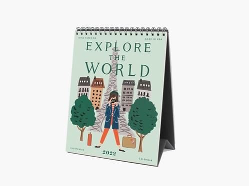 Rifle Paper Co.   2022 Explore the World Desk Calendar