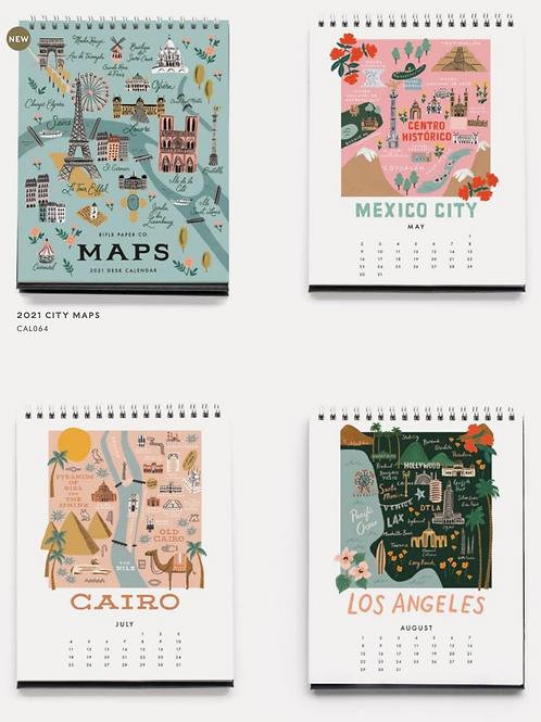 Rifle Paper Co. | 2021 City Maps Desk Calendar