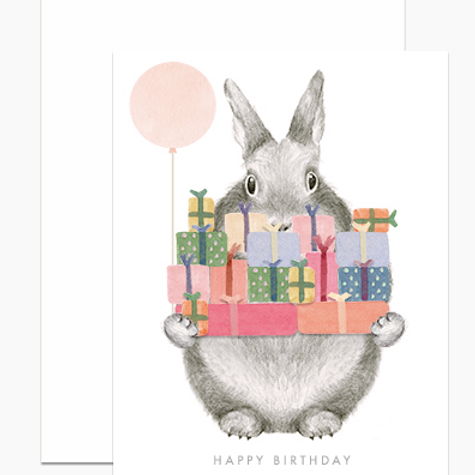 Birthday Bunny with Gifts