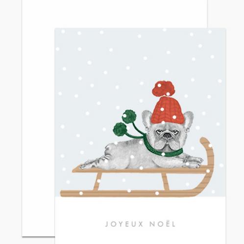Dear Hancock Joyeux Noël Frenchie Cards