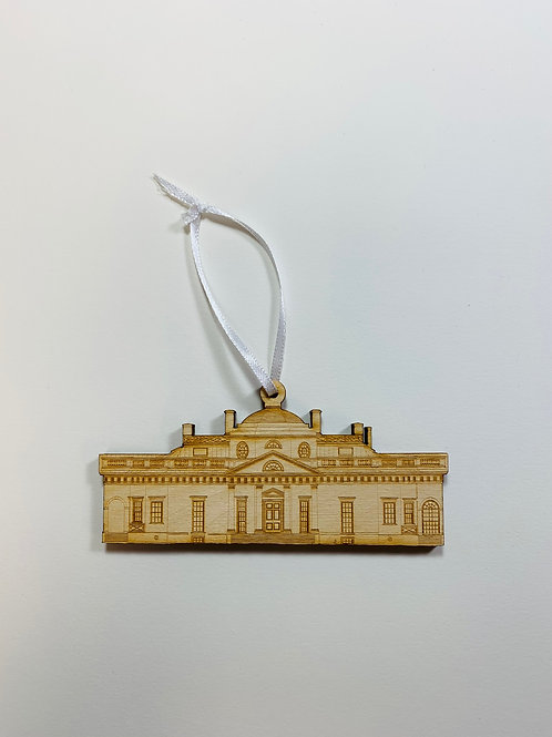 Wooden Monticello Ornament