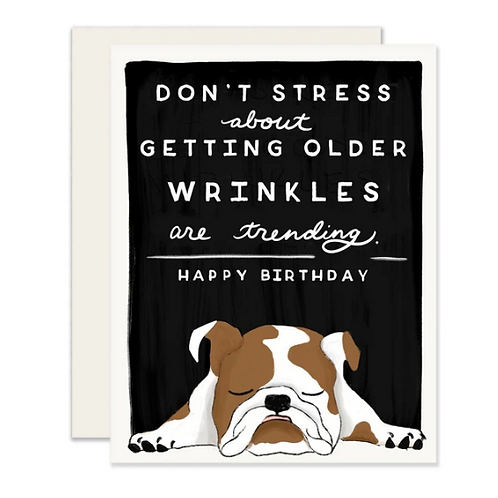 Don't Stress About Getting Older... Wrinkles are Trending
