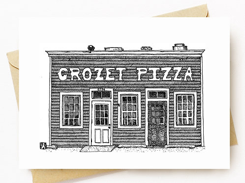 Crozet Pizza Greeting Card