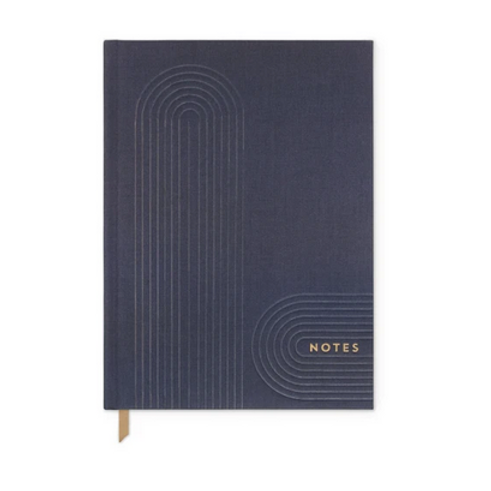 """Navy Linear Geo """"Notes"""" Journal"""