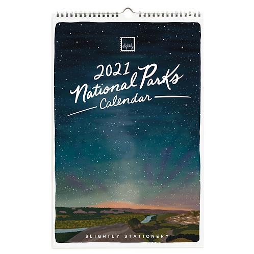 Slightly Stationery | 2021 National Parks Calendar