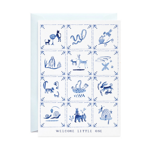 Welcome Little One Delft Tiles