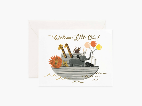 Noah's Ark Baby Card