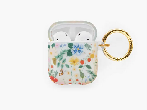 Rifle Paper Co. | Clear Strawberry Fields AirPods Case