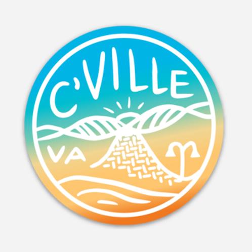 Rainbow C'ville Sticker