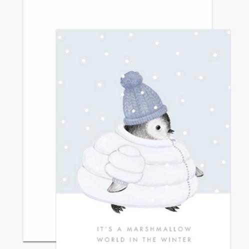 Dear Hancock Marshmallow World Penguin Holiday Cards