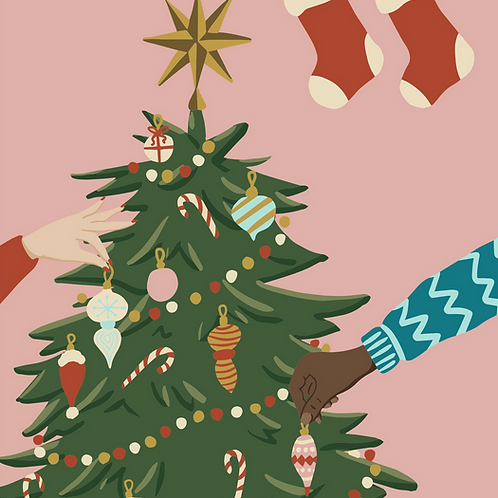 Pink Picasso | Mid-Century Christmas Paint Kit