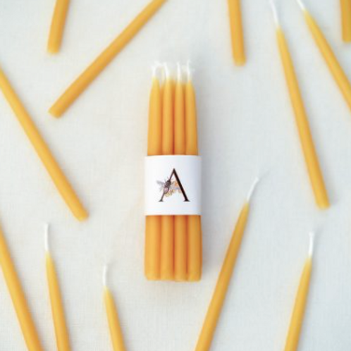Anellabees | Set of 10 Beeswax Birthday Candles