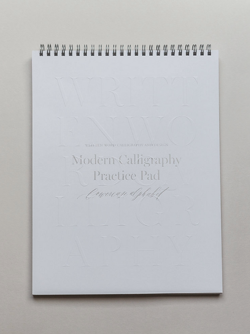 Written Word  |  Lowercase Calligraphy Practice Pad
