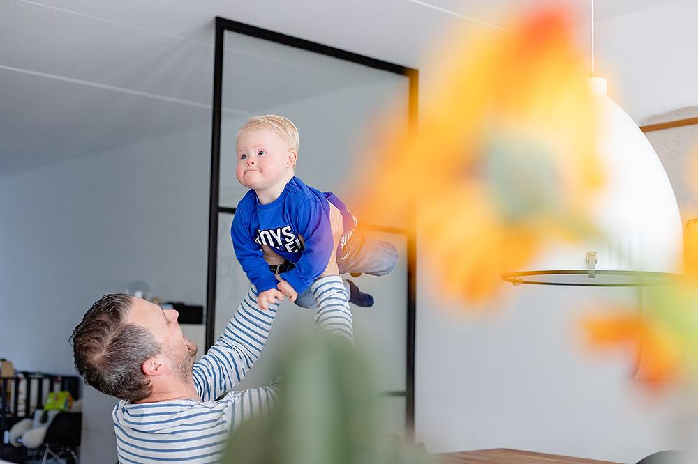 Syndroom van Down fotoshoot peuter