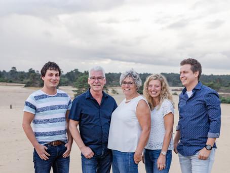 Fotoshoot met het gezin in Hulshorst