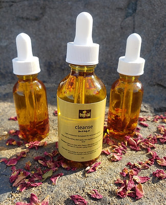 cleanse face + body oil