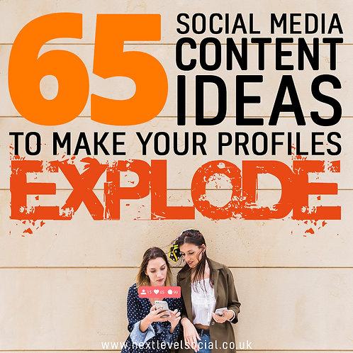 Social Media Content Cheat Sheet - 65 Ideas!