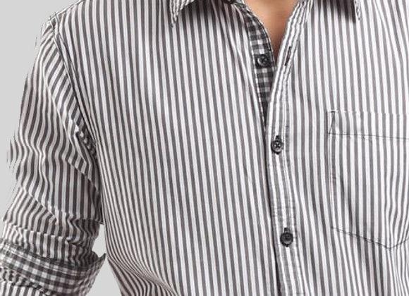 Camisa a Rayas manga Larga