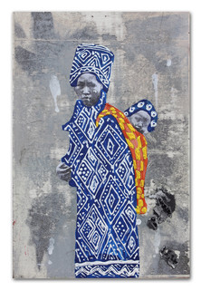 Mother and shorty, 2015 7″ x 9″ acrylic & photo transfer on wood panel