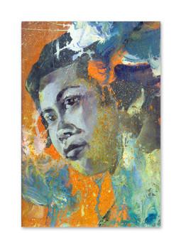 """mae eeenoy, 2018 11""""x7""""  Acrylic & oil on wood panel"""