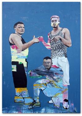 Truce, 2016 53″x37″ Mix media on canvas
