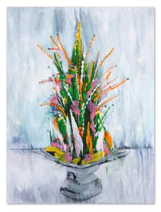 "Pa Kwan #2, 2018 48""x36"" Acrylic & spray paint on canvas"