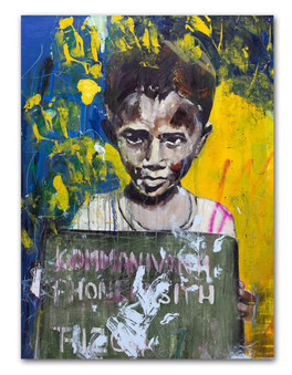 Brother, 2015 36″ x 48″ Mixed Media on canvas