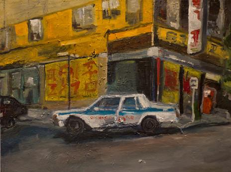 """Pork Fried Rice, 2012 18""""x24"""" Oil on canvas"""