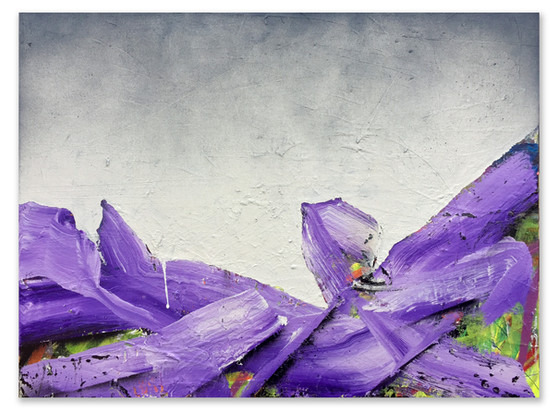 """Lilac, 2017 18""""x24"""" Acrylic and spray paint on canvas"""