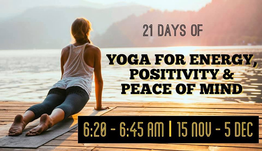 yoga pic 21 days for energy, Positivity