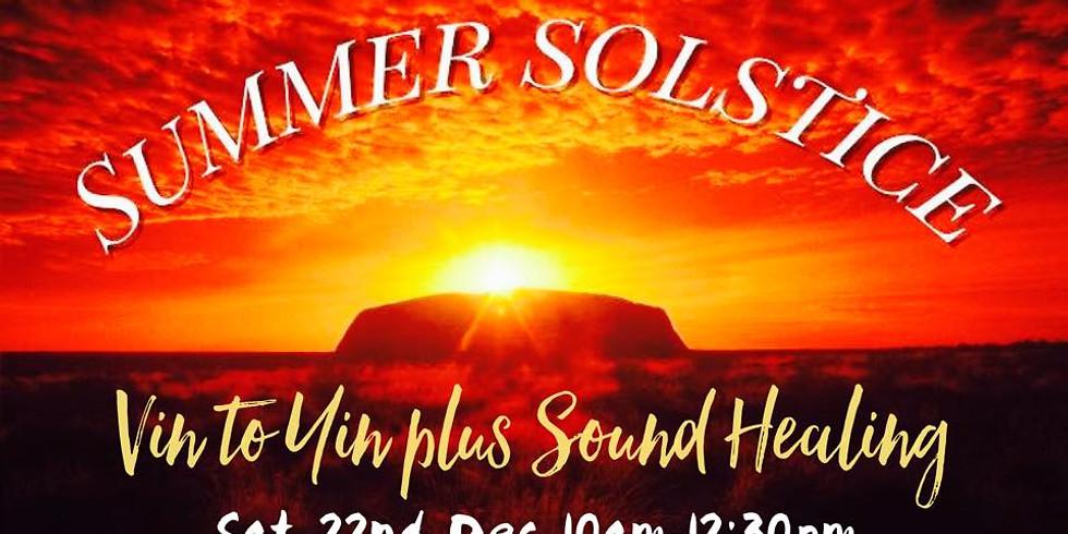 Summer Solstice Vin to Yin plus Sound Healing