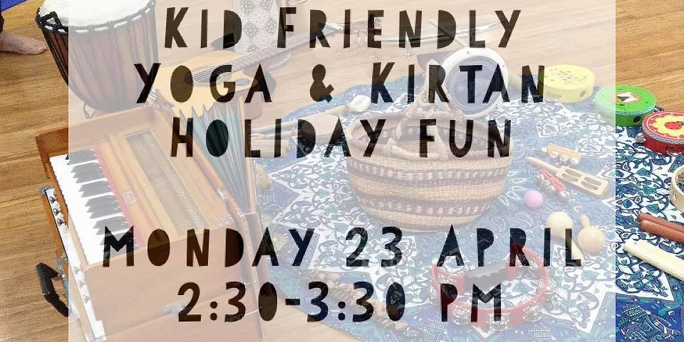 Kid Friendly Yoga & Kirtan Holiday fun