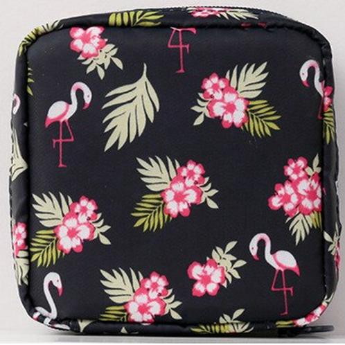 Flamingo Navy Reusable Mask Bag